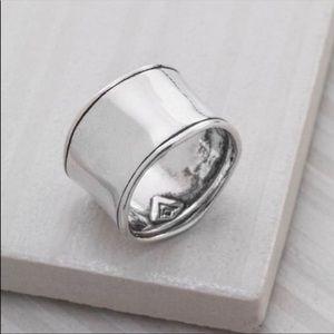 Silpada Hammered Cuff Ring Size 8